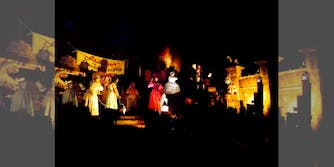 The Pirates of the Caribbean ride's bride auction scene
