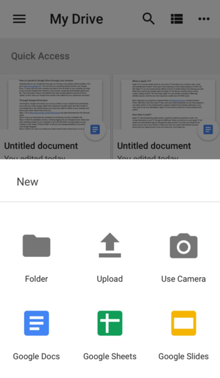 How to upload files to Google Drive viaiOS or Android
