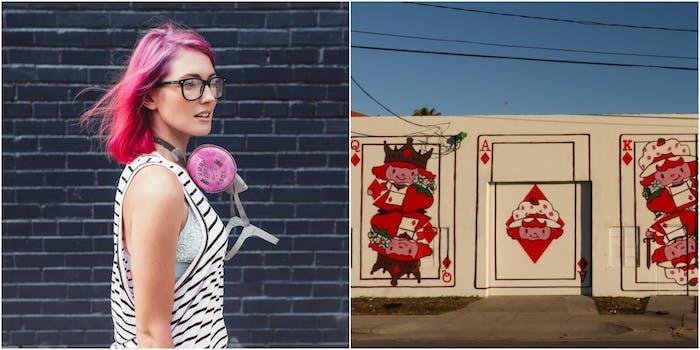meg zany street art strawberry shortcake feminist