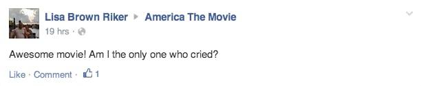 America Movie Facebook Comment