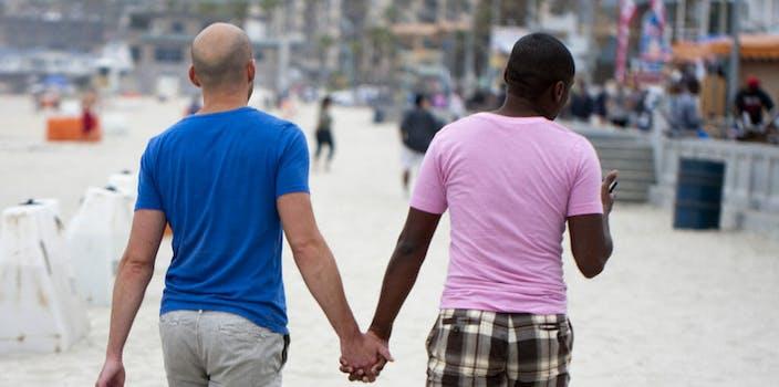 gay couple beach lgbtq