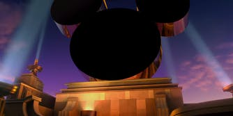 Mickey Mouse ears on 20th Century Fox logo