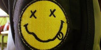 Nirvana smiley face patch
