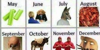 meme calendar for 2017