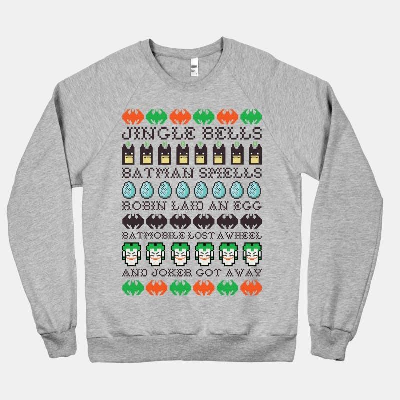 Jingle Bells Batman Smells Ugly Sweater, $39.