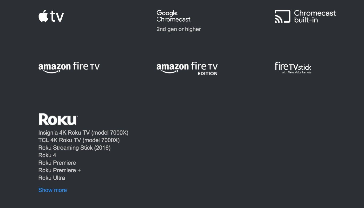 directv now devices