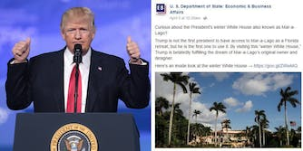 Donald Trump and State Department Mar-a-Lago blog