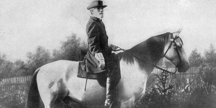 Robert E. Lee on horseback