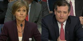 Sally Yates and Ted Cruz