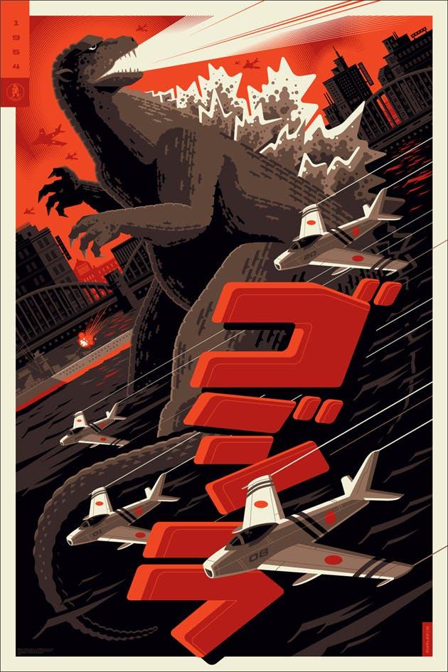 Godzilla, 24? x 36,? Edition of 250