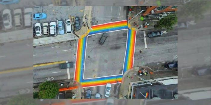 Atlanta's rainbow crosswalk