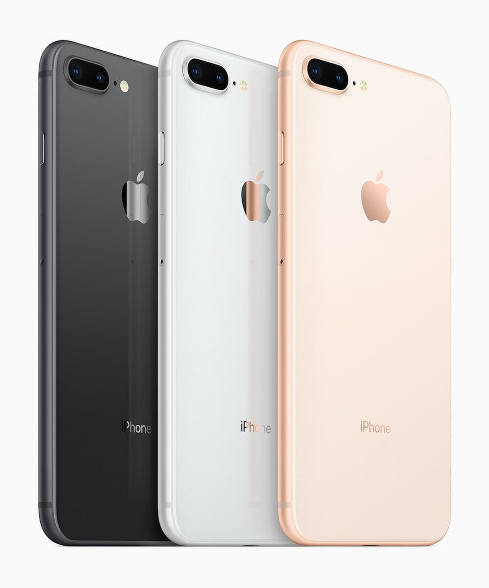 Apple iPhone 8 in three colors
