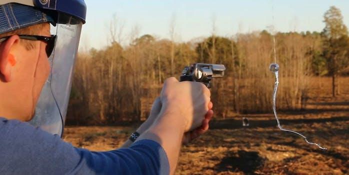 smarter every day prince rupert's drop bullet gun