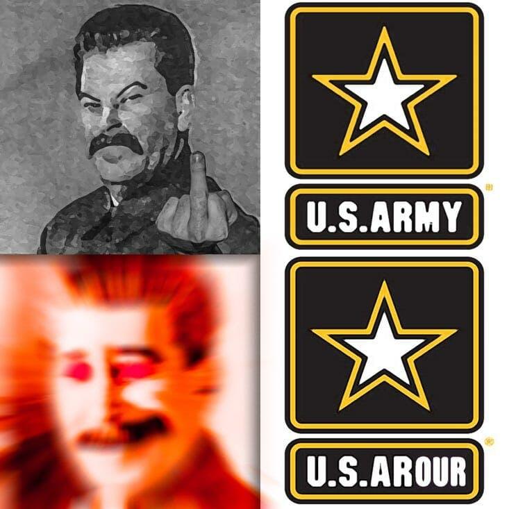u.s. army arour stalin meme