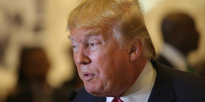 Donald Trump Speaking at Trump Tower