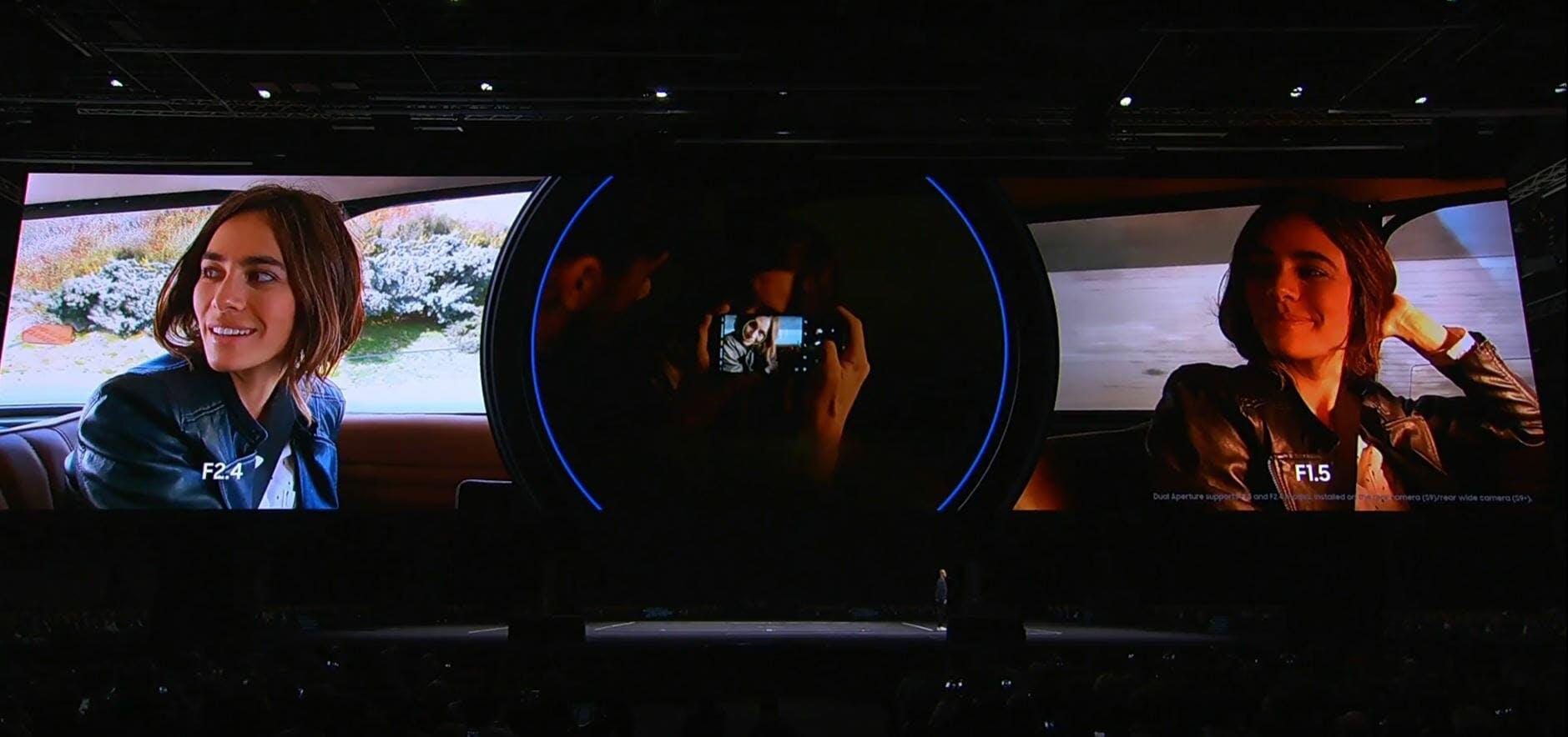 samsung galaxy s9+ dual aperture camera