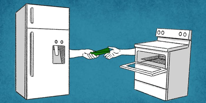 what is iota - Refrigerator and oven making a transaction