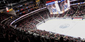 The Edmonton Oilers at Rogers Place.