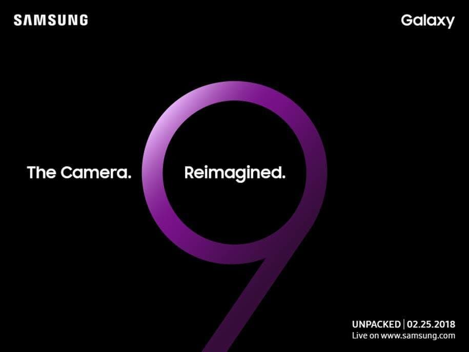 samsung galaxy s9 smartphone invitation mwc