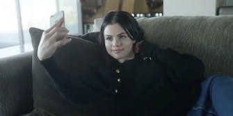 Selena Gomez takes a selfie.