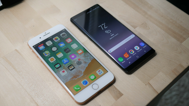 iphone 8 plus vs galaxy note 8