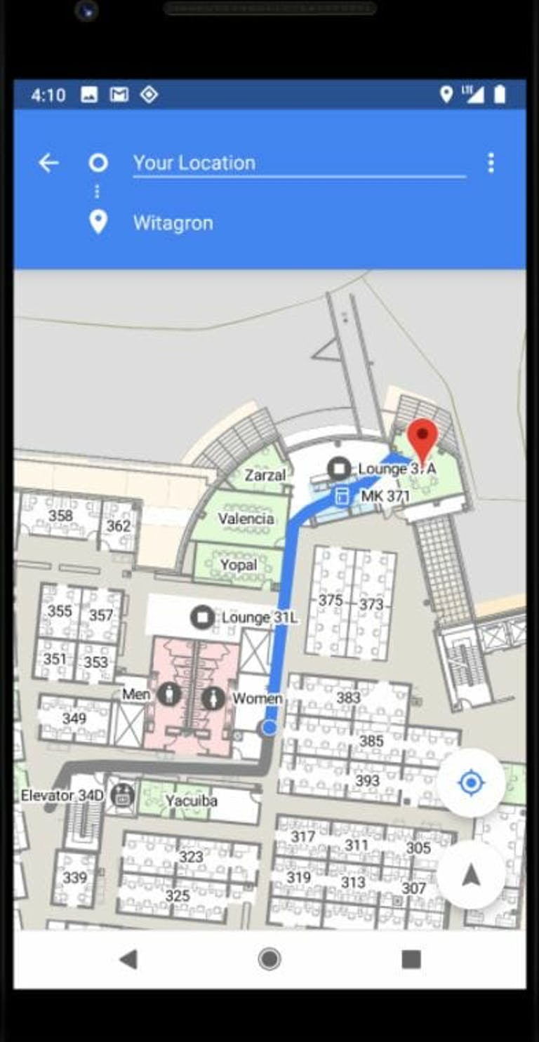 google android p indoor location tracking