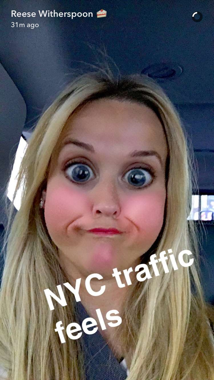 celebrity snapchats: Reese Witherspoon
