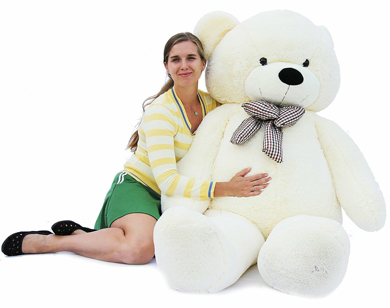 woman with stuffed bear 2