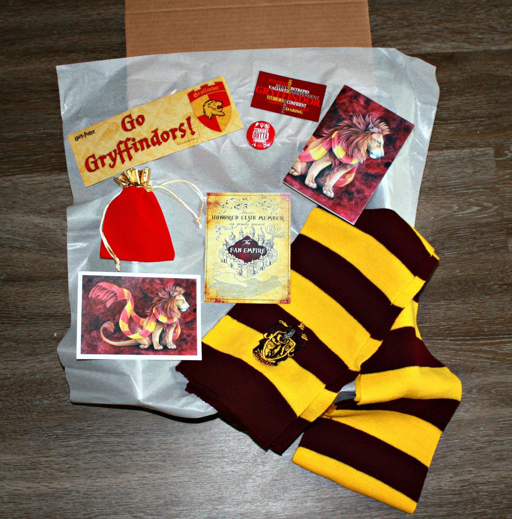 October's Hogwarts House Pride Gryffindor Box