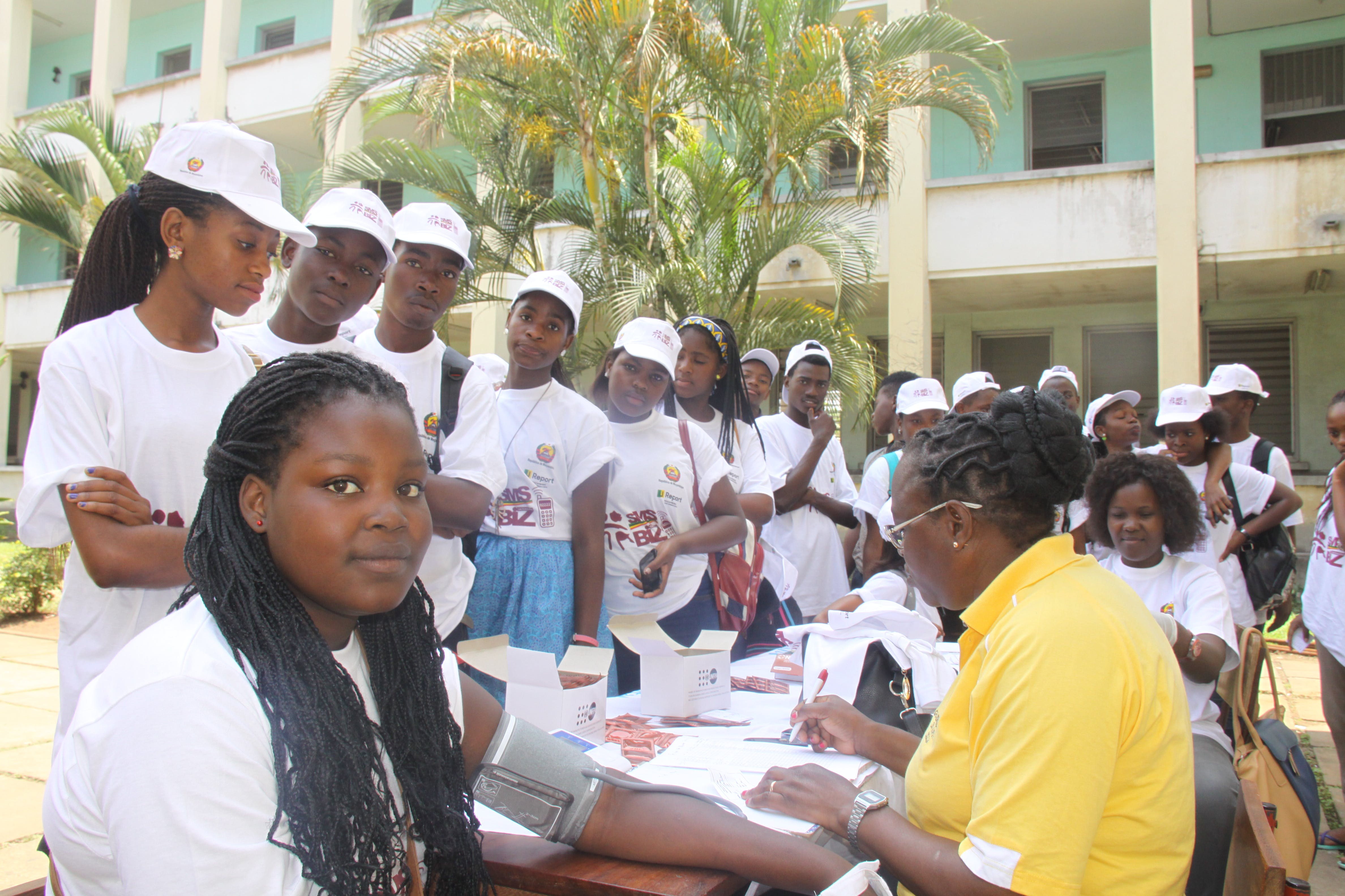 Adolescents connecting with the U-Report based platform SMS BIZ to get free counselling on Sexual Reproductive Health and HIV prevention