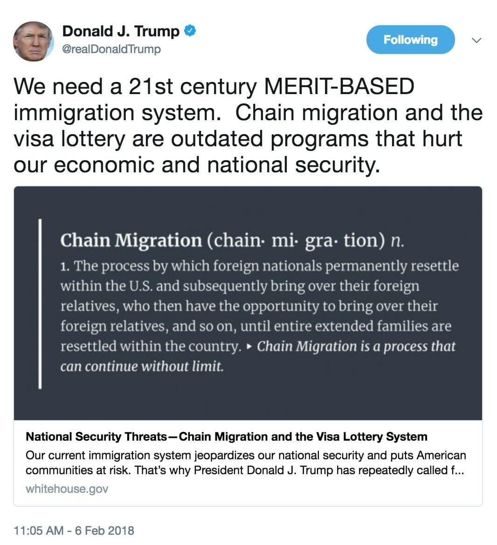 donald trump chain migration