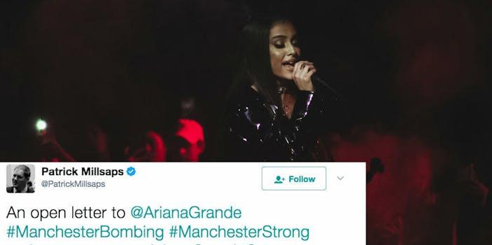 Ariana Grande dad tweet open letter