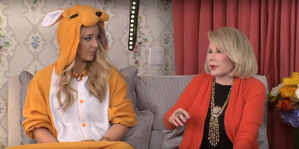 Jenna Marbles and Joan Rivers