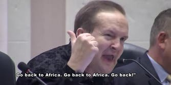 Paul Congemi, St. Petersburg, Florida, mayoral candidate, telling constituents to 'go back to Africa'