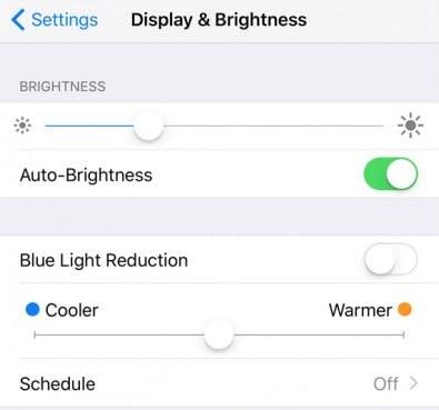 Night Shift mode in iOS 9.3