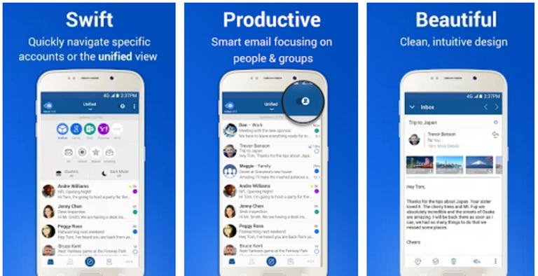 Best Android Apps: BlueMail