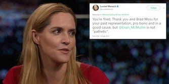 Louise Mensch firing her lawyer via Tweet