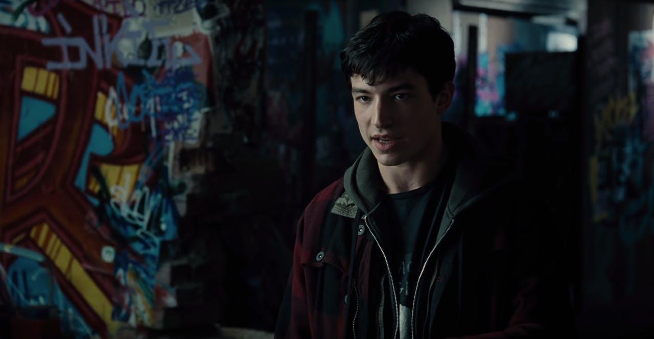 justice league cast : Ezra Miller as The Flash