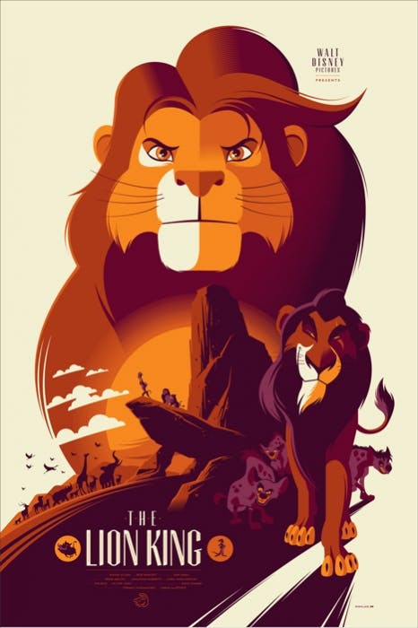 The Lion King poster by Tom Whalen Mondo.