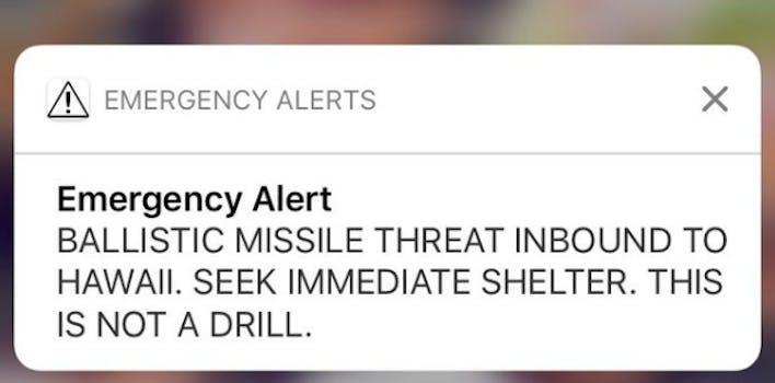 hawaii warning missile threat false alarm