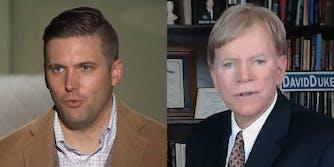 White nationalists Richard Spencer and David Duke