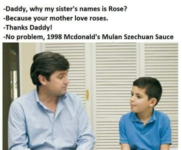 rick and morty meme : a kid named szechuan sauce