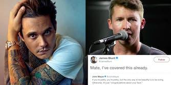 James Blunt tweets at John Mayer