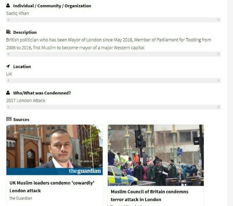muslims condemn