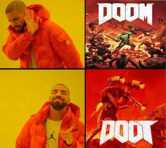 doom doot skull spooky meme