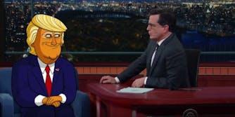 Donald Trump Stephen Colbert animated