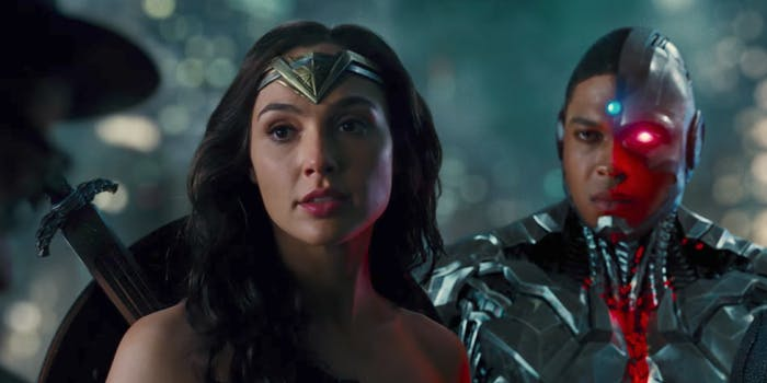 A screengrab from the new Justice League trailer