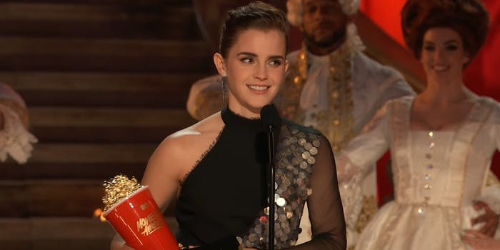 Emma Watson accepts Best Actor in a Movie MTV Movie & TV Awards