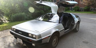 iPad controlled DeLorean
