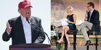 Donald Trump and Morning Joe hosts Mika Brzezinski and Joe Scarborough
